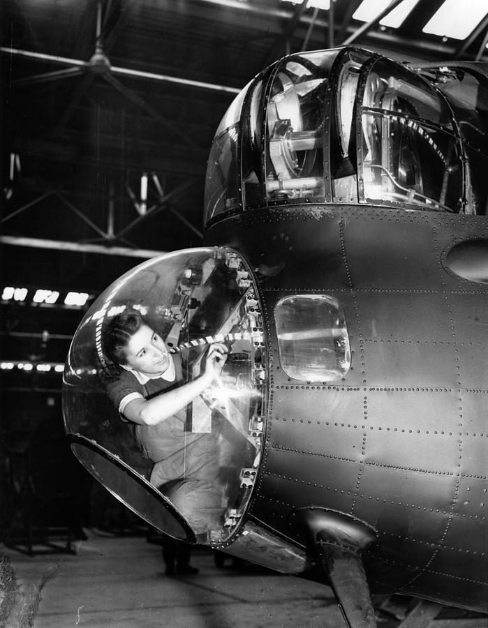 Working On Bomber Photograph by Keystone Features