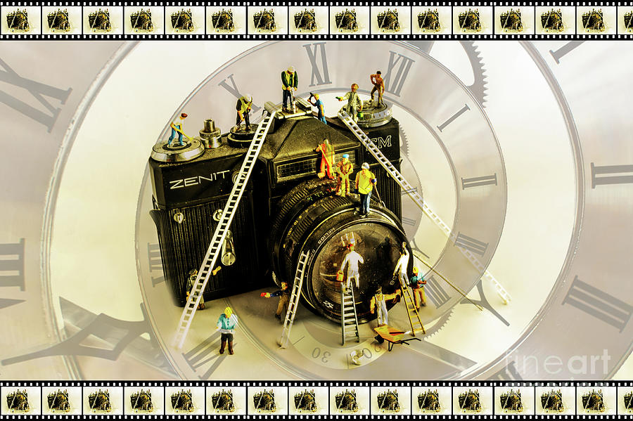 Little People Photograph - Working Round The Clock by Sandra Cockayne ADPS
