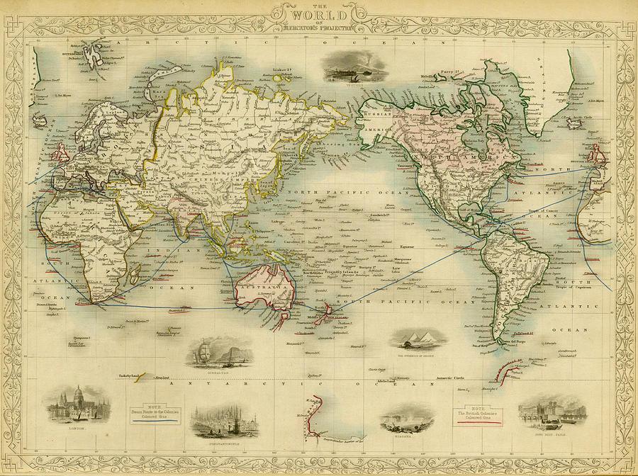 World Antique Map Digital Art by Nicoolay