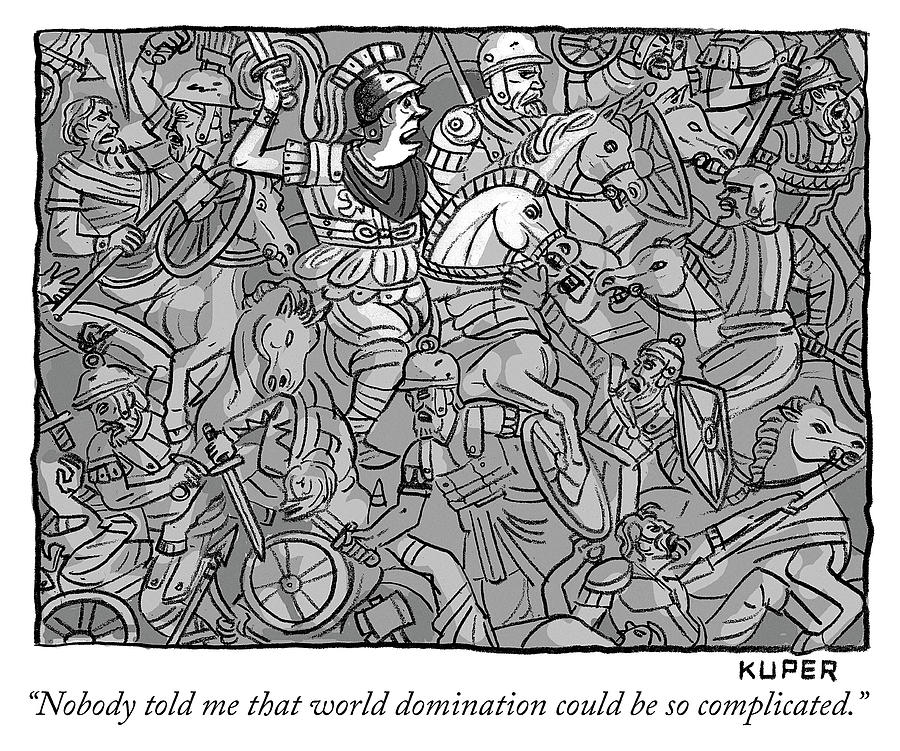 World domination Drawing by Peter Kuper