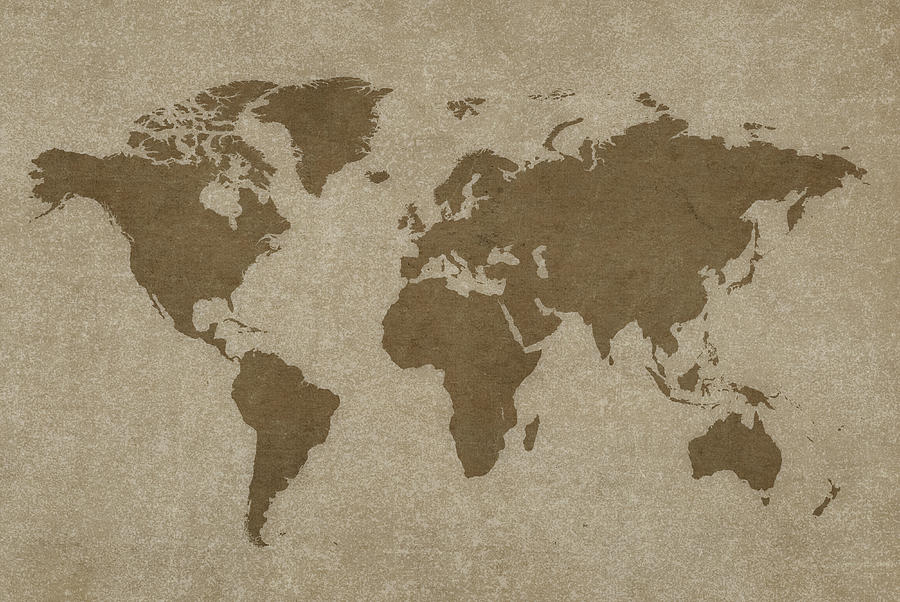 World Map And Compass Photograph by Dem10