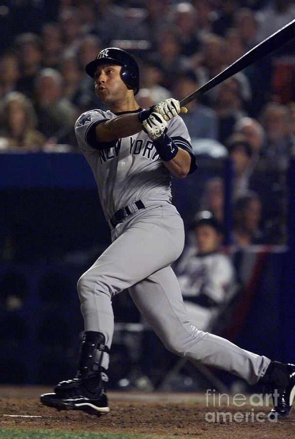 World Series X Jeter Photograph by Jed Jacobsohn