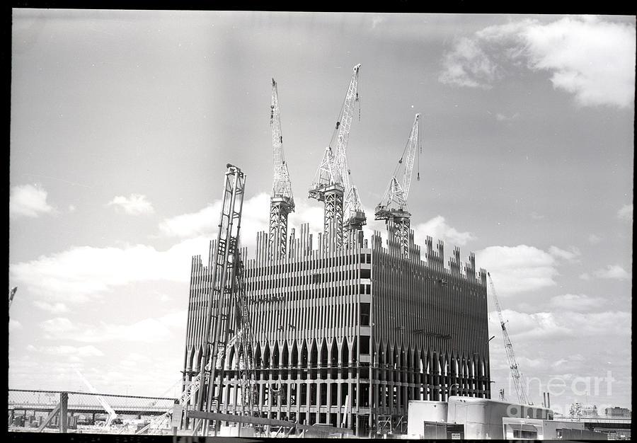 World Trade Center Under Construction Photograph by Bettmann