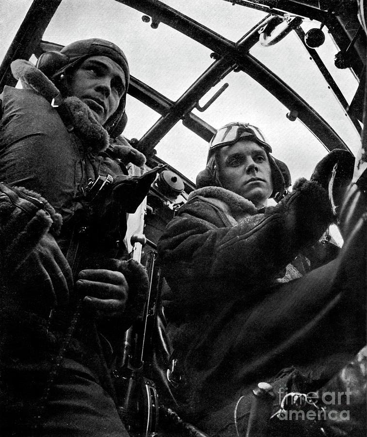 20th Century Photograph - World War 2  Raf Pilots by English School
