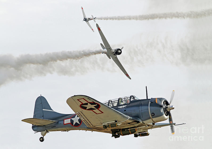 World War II Aerial Dogfight by Kevin McCarthy