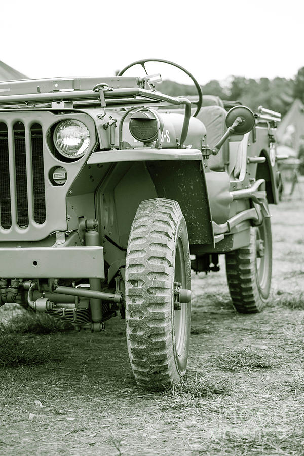 Jeep Photograph - World War II Era Us Army Jeep by Edward Fielding