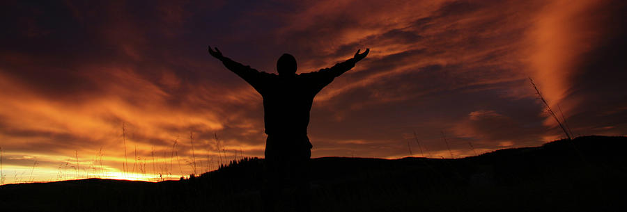 Worship Silhouette Photograph by Imaginegolf