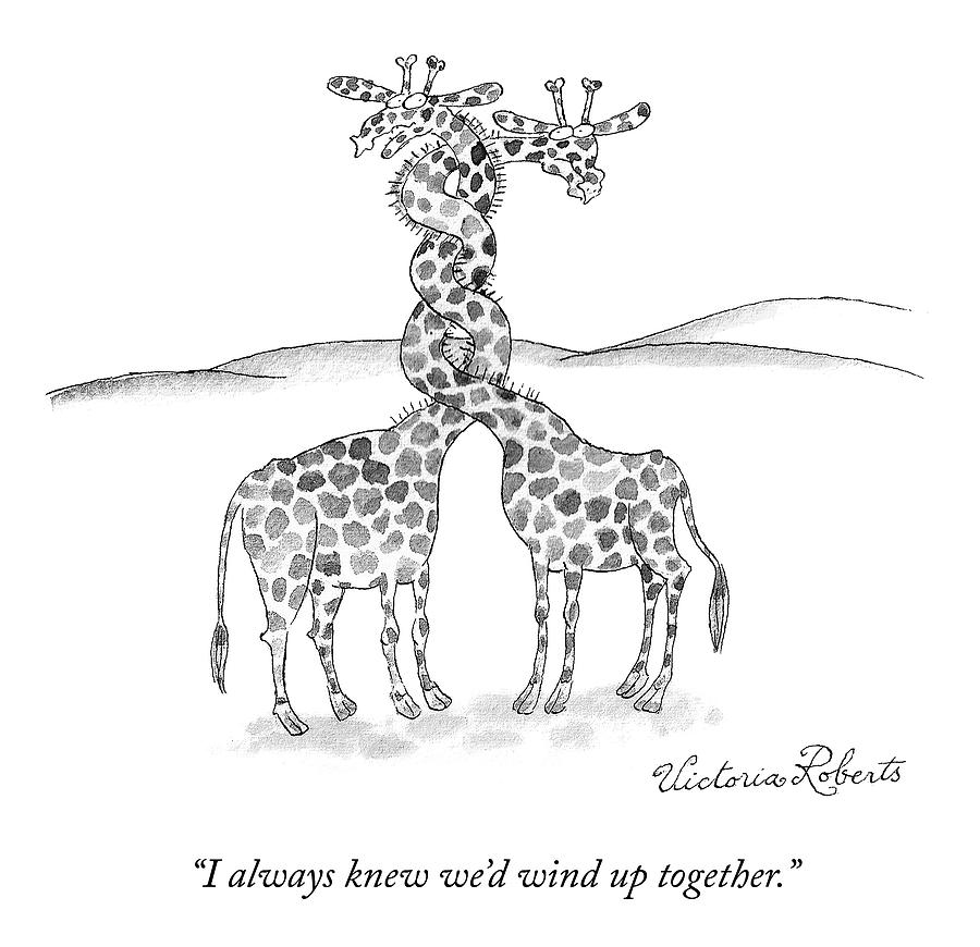 Wound Up Together Drawing by Victoria Roberts