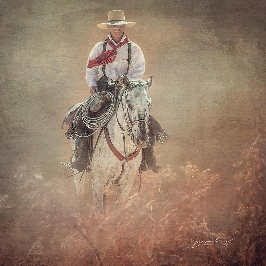 Wrangler Riding by Steve Kelley