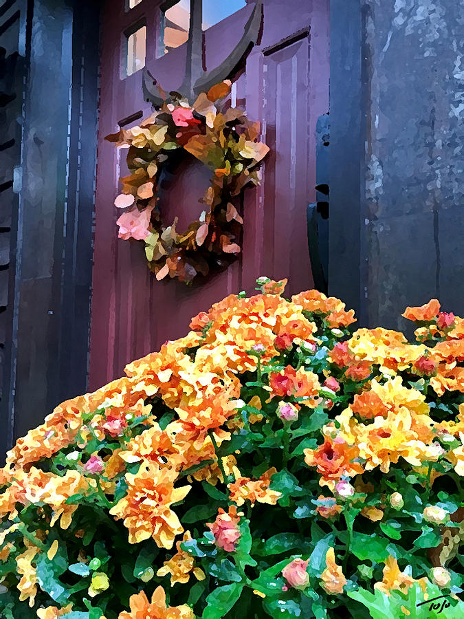 Wreath and Mum by Tom Johnson