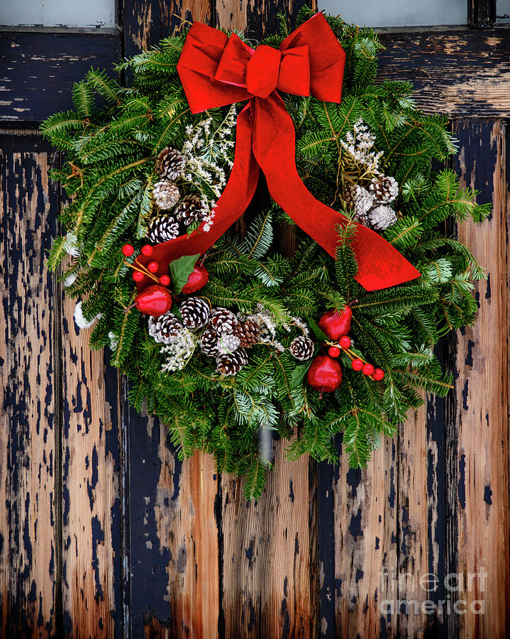 Wreath On Door Photograph