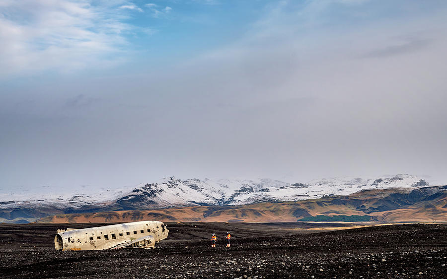 Iceland Photograph - Wreck Inspection by Framing Places