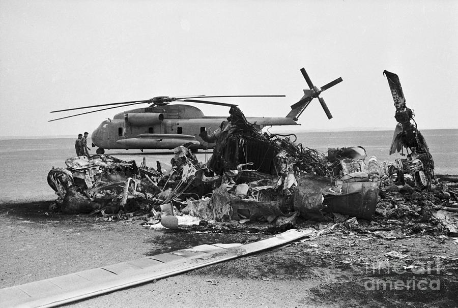 Wreckage Of American Helicopters Photograph by Bettmann