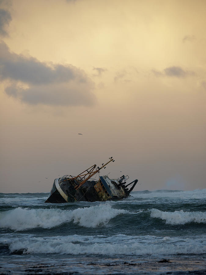 Wrecked Fishing Vessel Photograph by Gannet77
