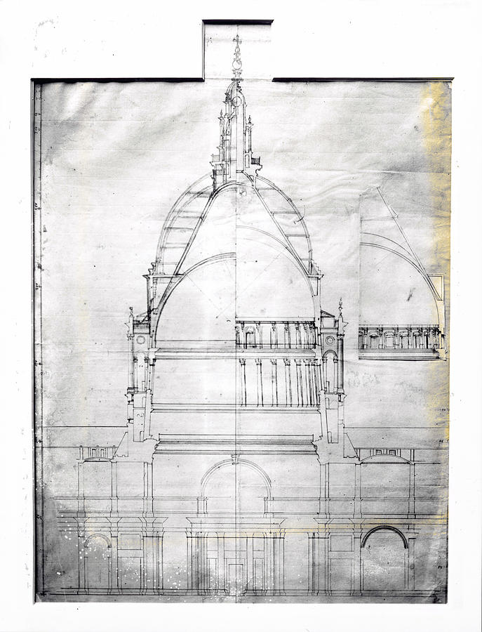 Wrens Plan Of St Pauls Photograph by Topical Press Agency