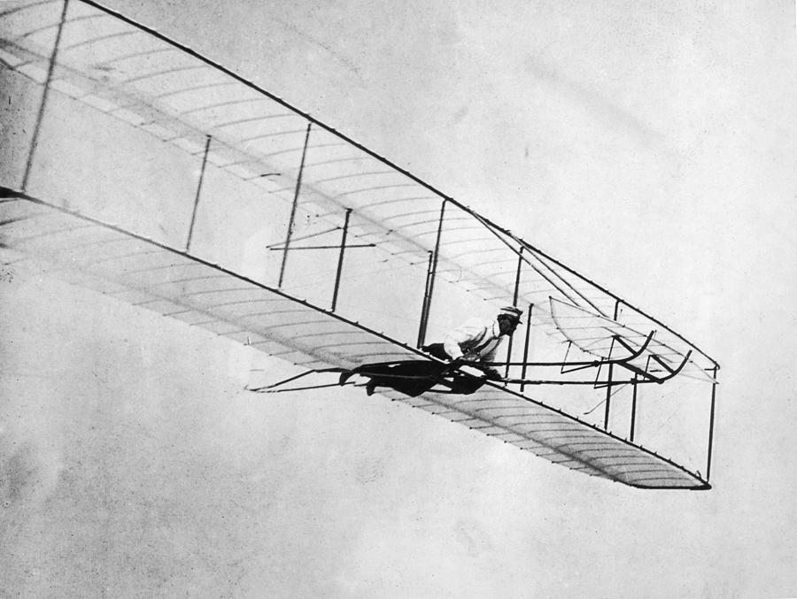 Wright Glider Photograph by Hulton Archive