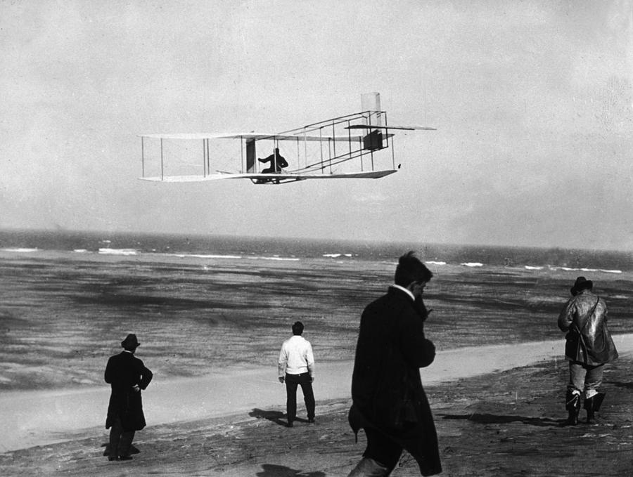 Wright Sets Gliding Record Photograph by Percy T. Jones
