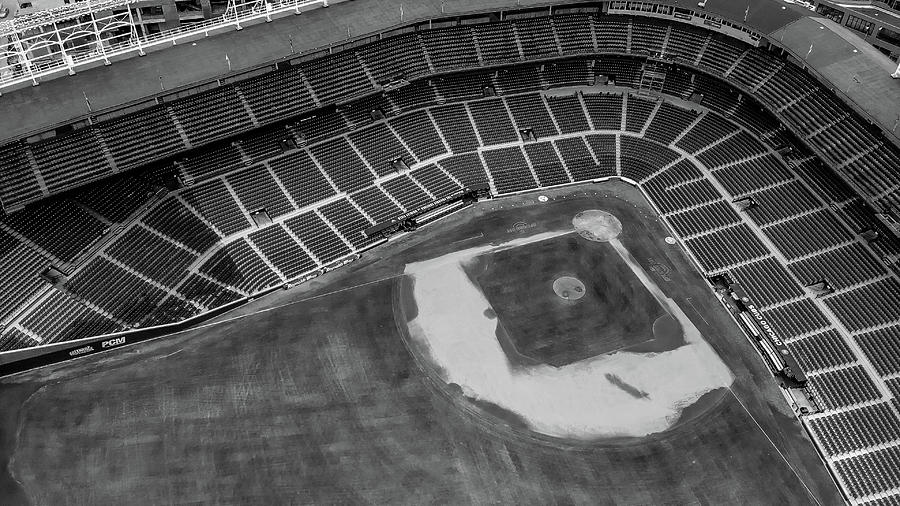 Wrigley Field Black and White by Bobby King