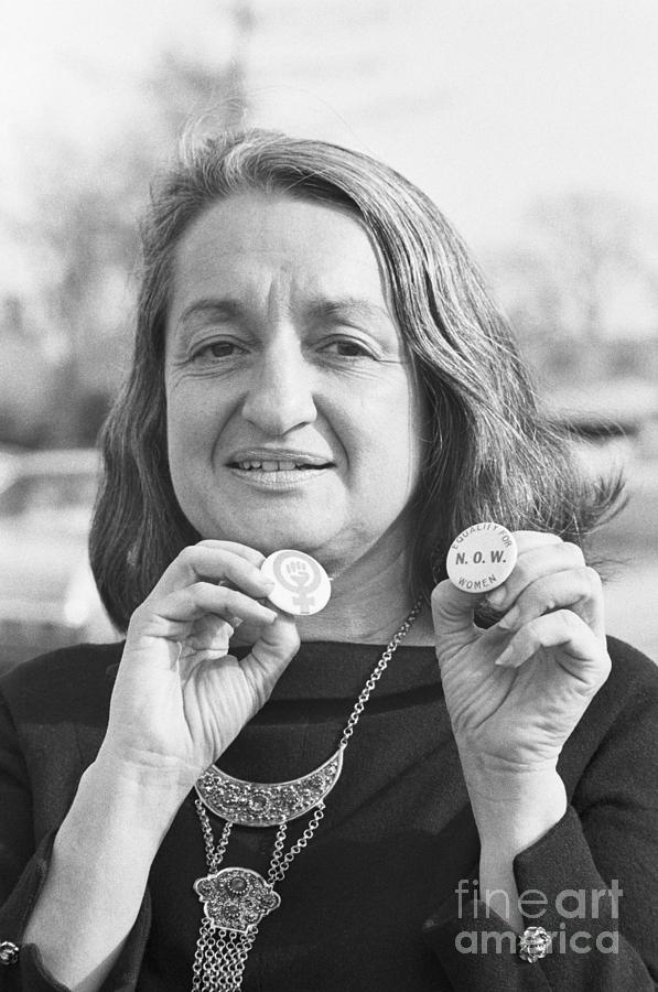 Writer Betty Friedan At Annual Now Photograph by Bettmann