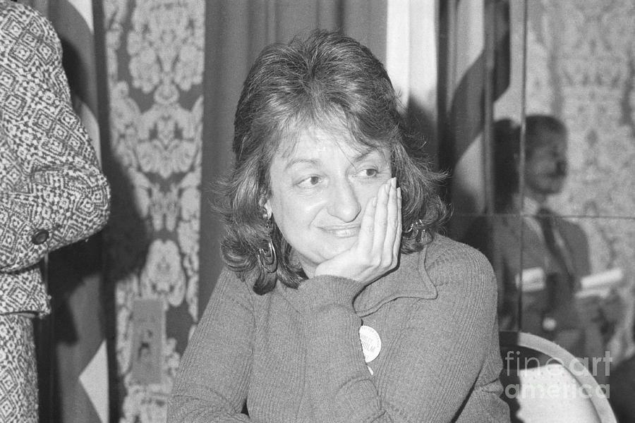 Writer Betty Friedan At Now Meeting Photograph by Bettmann