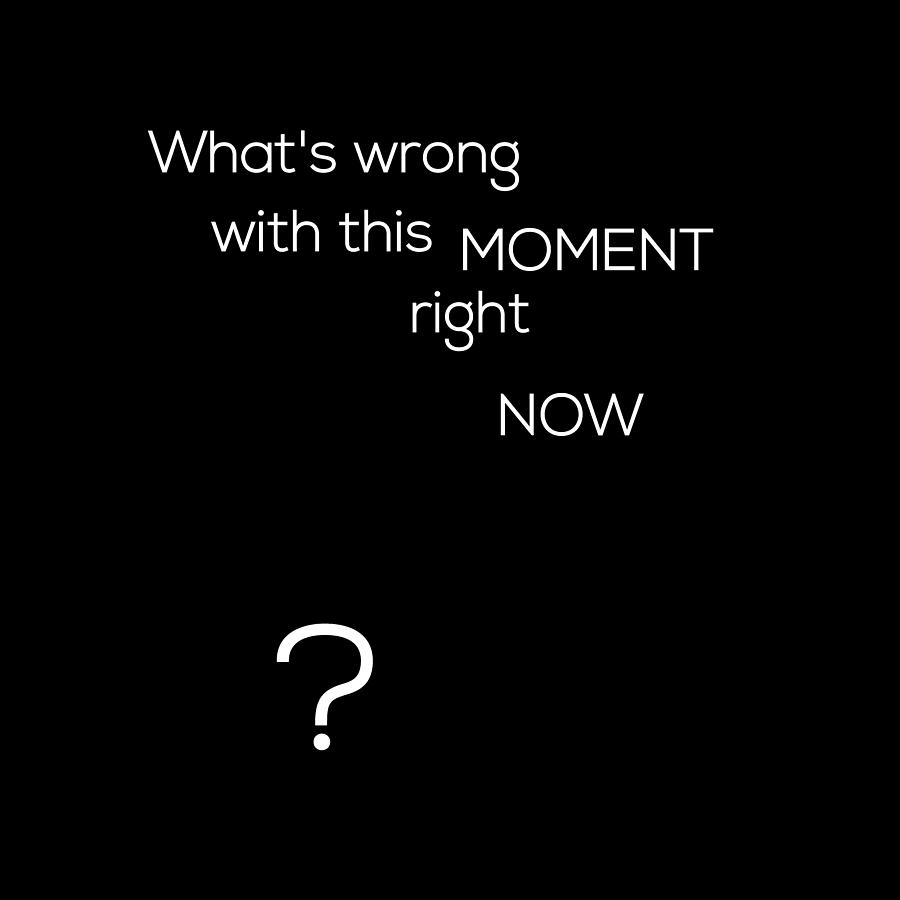 Wrong with this MOMENT right NOW - Black by Barry Costa