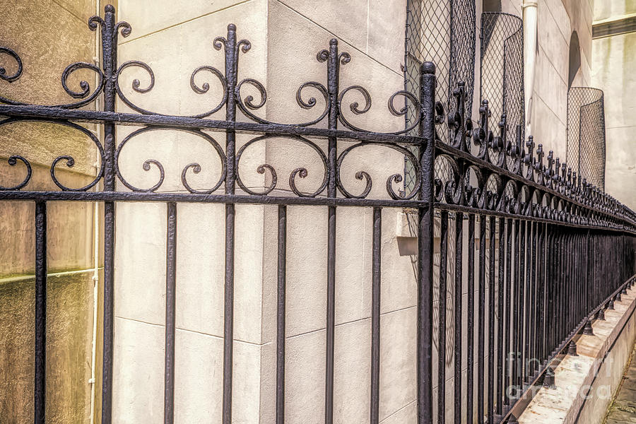Wrought Iron in Jackson Square by Kathleen K Parker