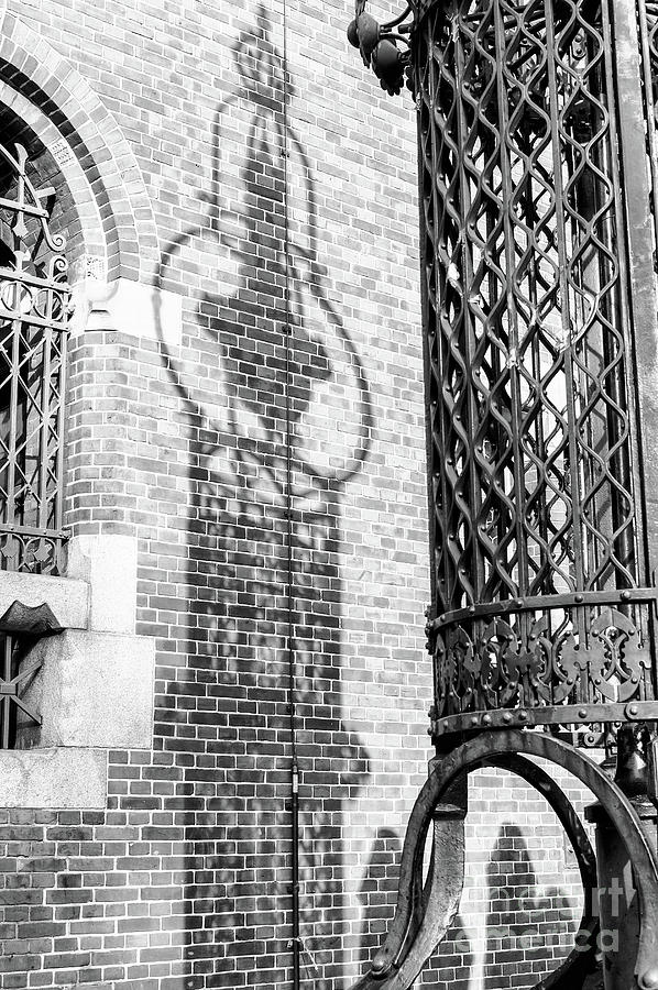 Iron Photograph - Wrought Iron Shadows In Amsterdam by John Rizzuto
