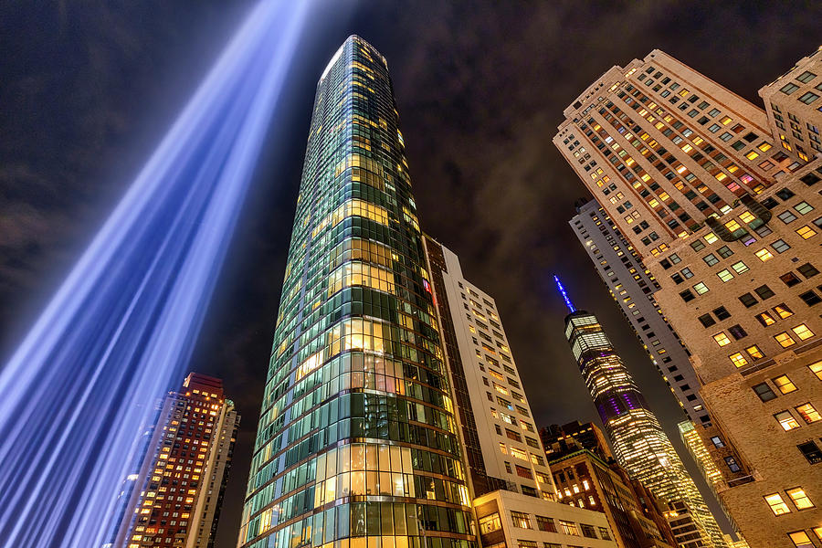 WTC NYC 911 Tribute In Lights by Susan Candelario