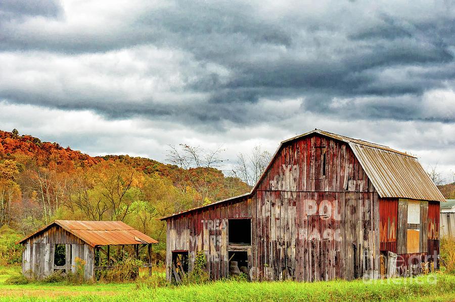 WV Barn Fall by Kathleen K Parker