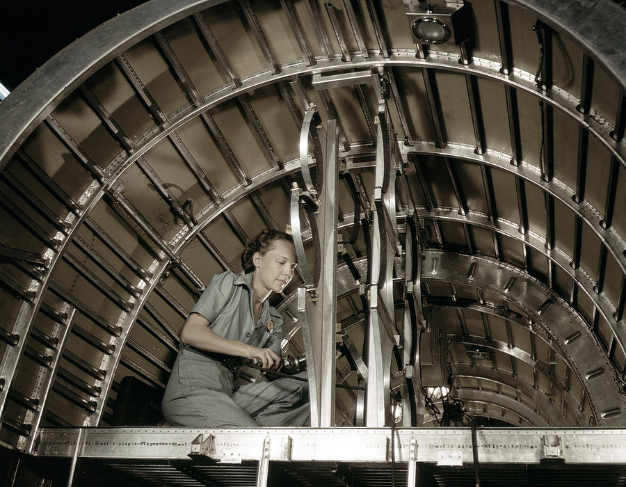 Wwii Airplane Mechanic, 1942 by Granger