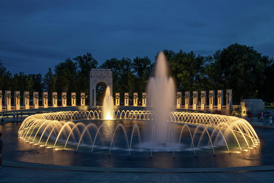 WWII Memorial at Twilight by Lynda Fowler
