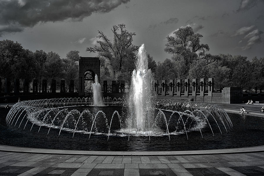 WWII Memorial in Infrared by Lynda Fowler