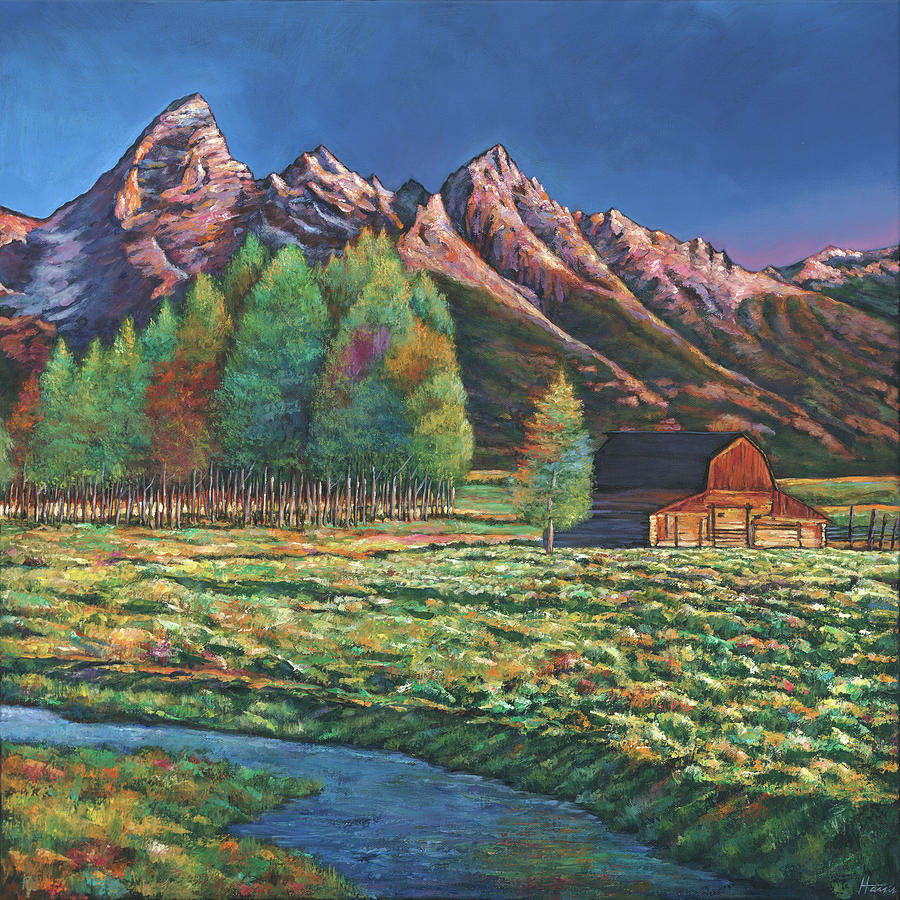 Southwestern Painting - Wyoming by Johnathan Harris