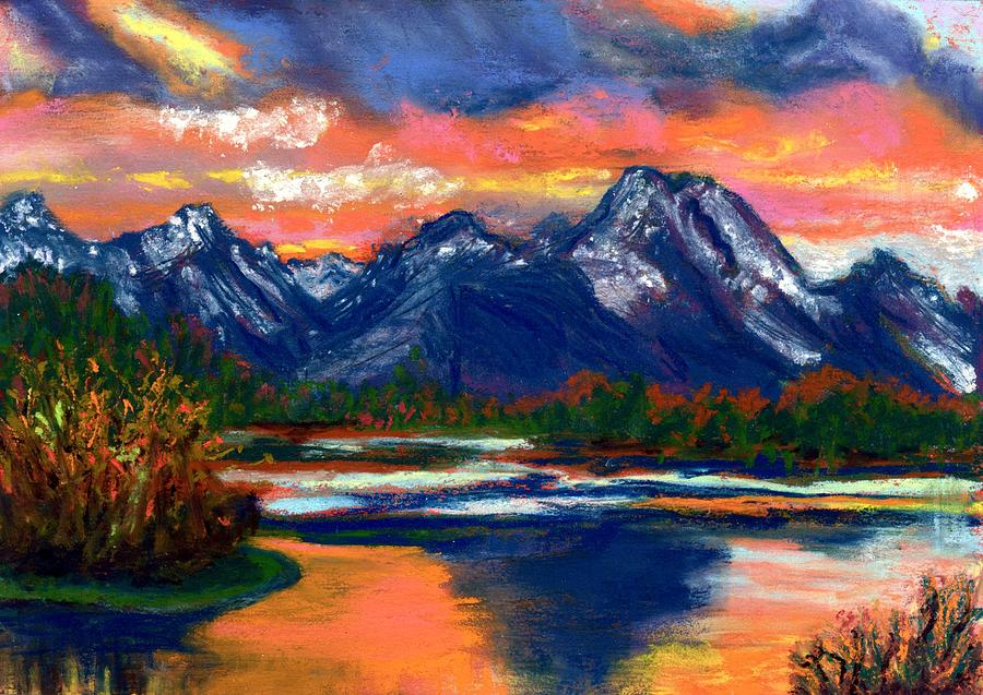 Pastel Painting - Wyoming by Laura Gabel