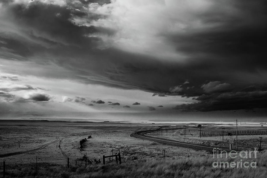 Wyoming Rails and Clouds by James Harper
