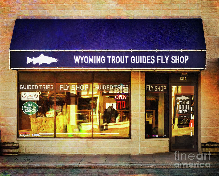 Wyoming Trout Guides Fly Shop by Craig J Satterlee