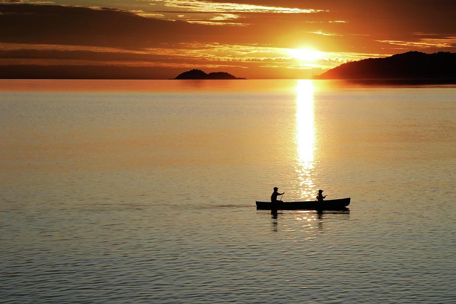 Xl Canoe Sunset Photograph by Sharply done