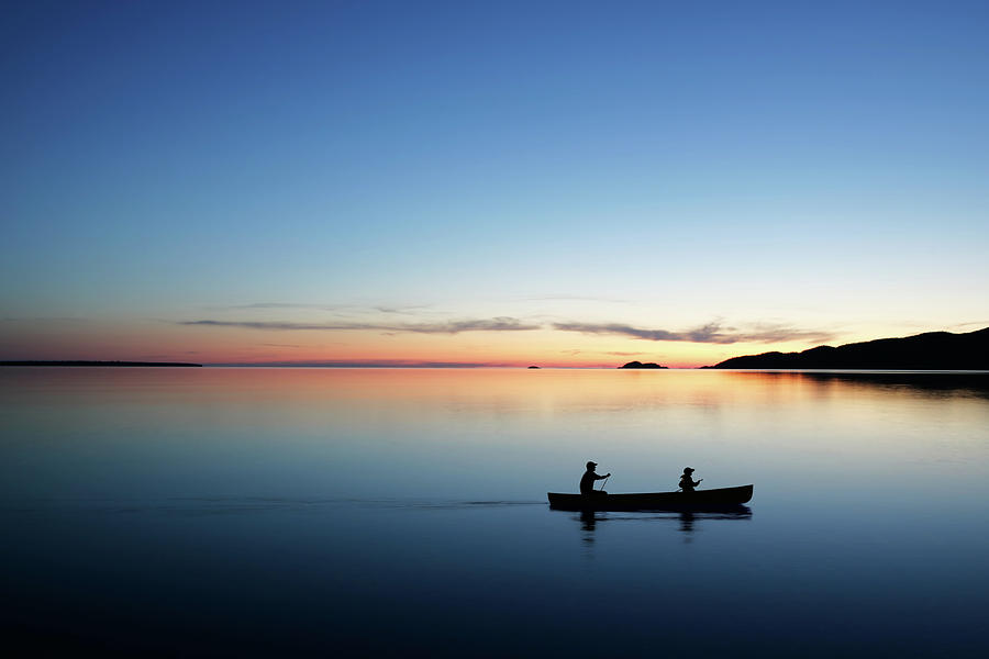 Xl Twilight Canoeing Photograph by Sharply done