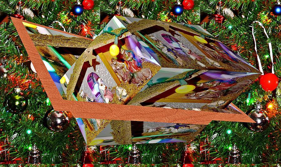 Xmas Decoration And Xmas Tree As Art Digital Art