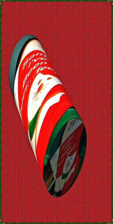 Xmas Stocking As A Cylinder Digital Art