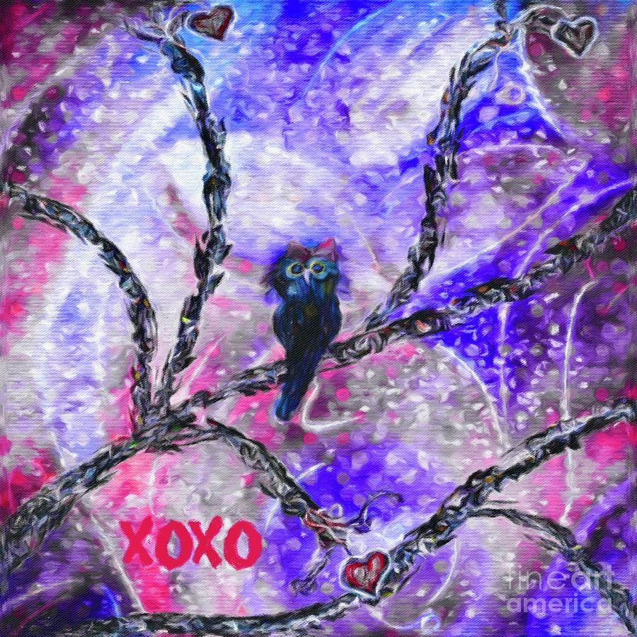 Sentiment Mixed Media - Xoxo by Lauries Intuitive