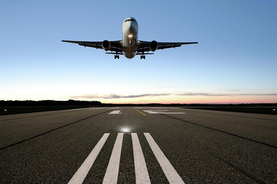 Xxl Jet Airplane Landing Photograph by Sharply done