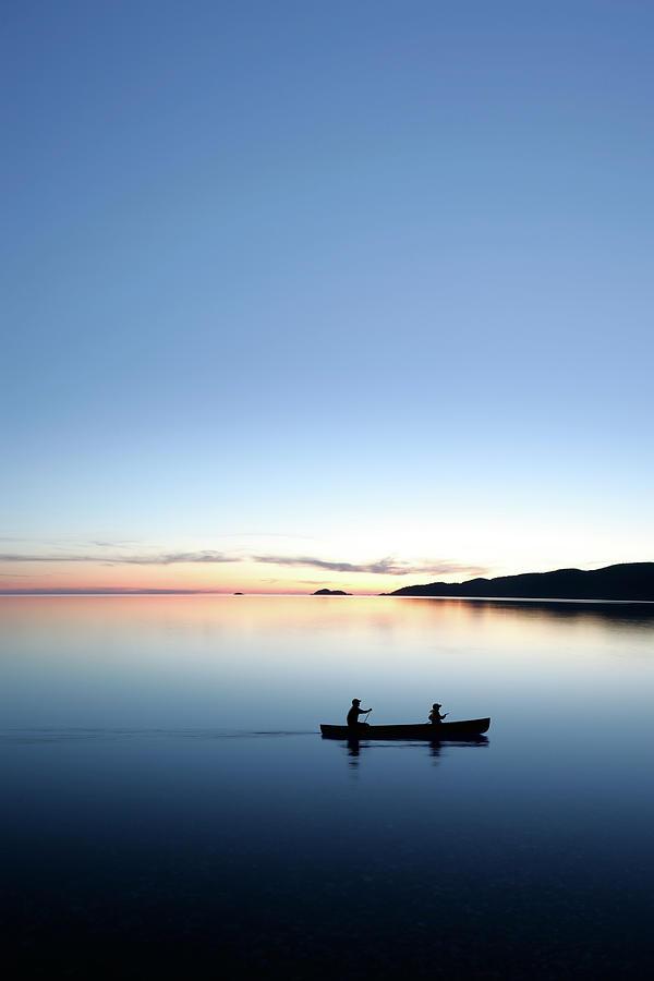Xxxl Twilight Canoeing Photograph by Sharply done