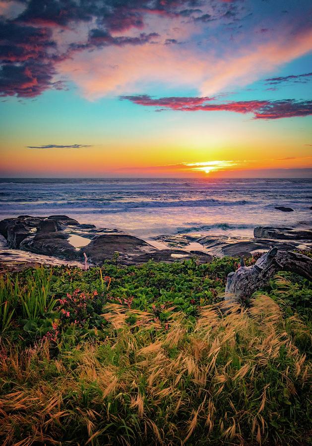 Yachats Oregon Sunset by Carolyn Derstine