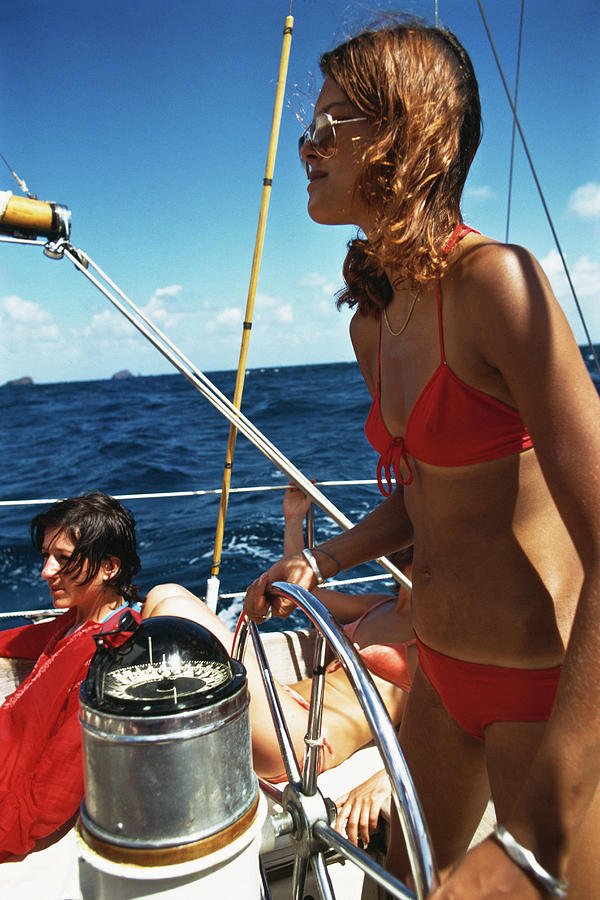 Yachting In The Caribbean Photograph by Slim Aarons