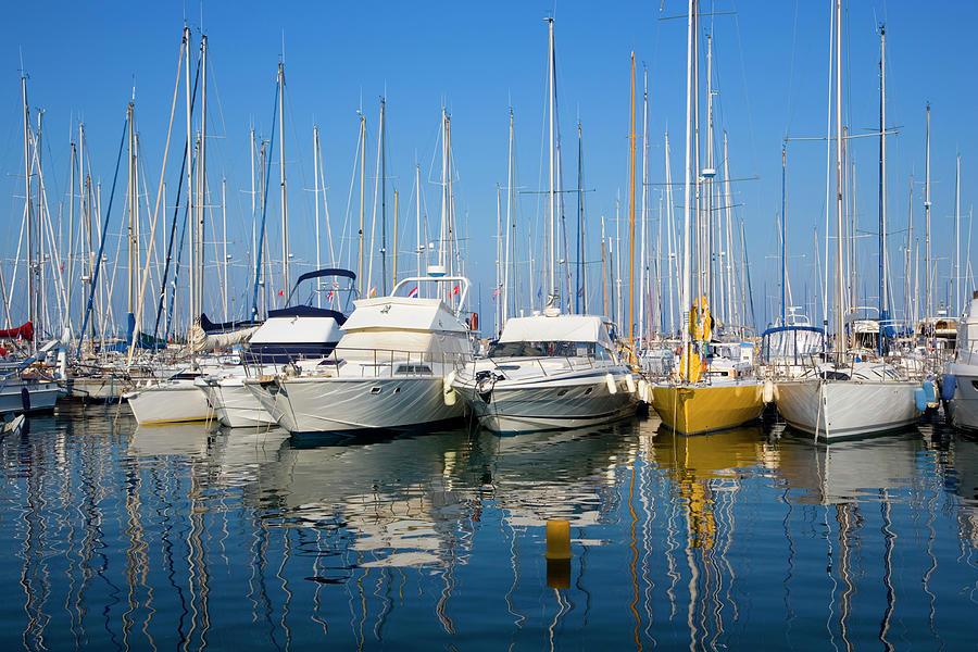 Yachts In Marina At Hyeres Photograph by David C Tomlinson