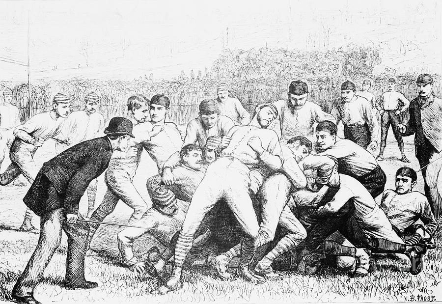 Yale And Princeton Football Match Photograph by Bettmann