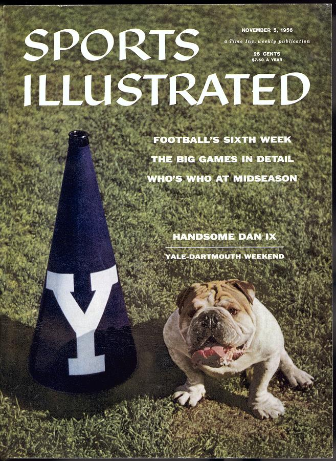 Yale Bulldogs Mascot Sports Illustrated Cover Photograph by Sports Illustrated