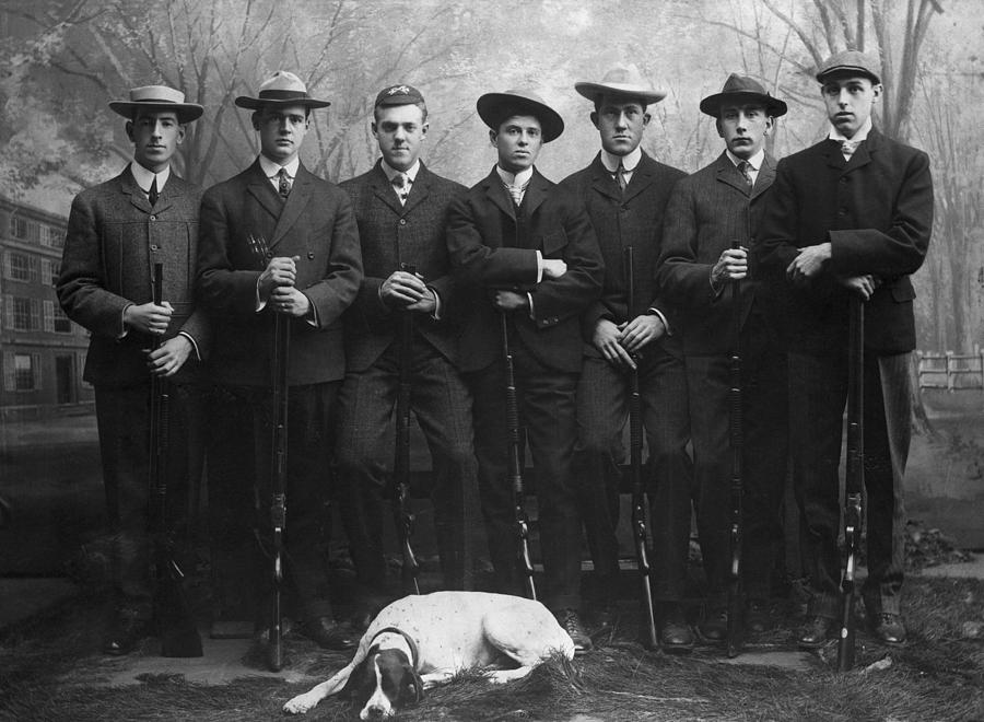 Yale Rifle Team In Full Length Pose Photograph by Bettmann