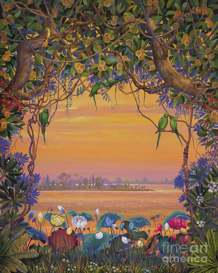 Krishna Painting - Yamuna View by Vrindavan Das